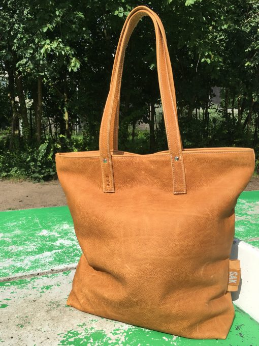 Lola xl big bag leer camel