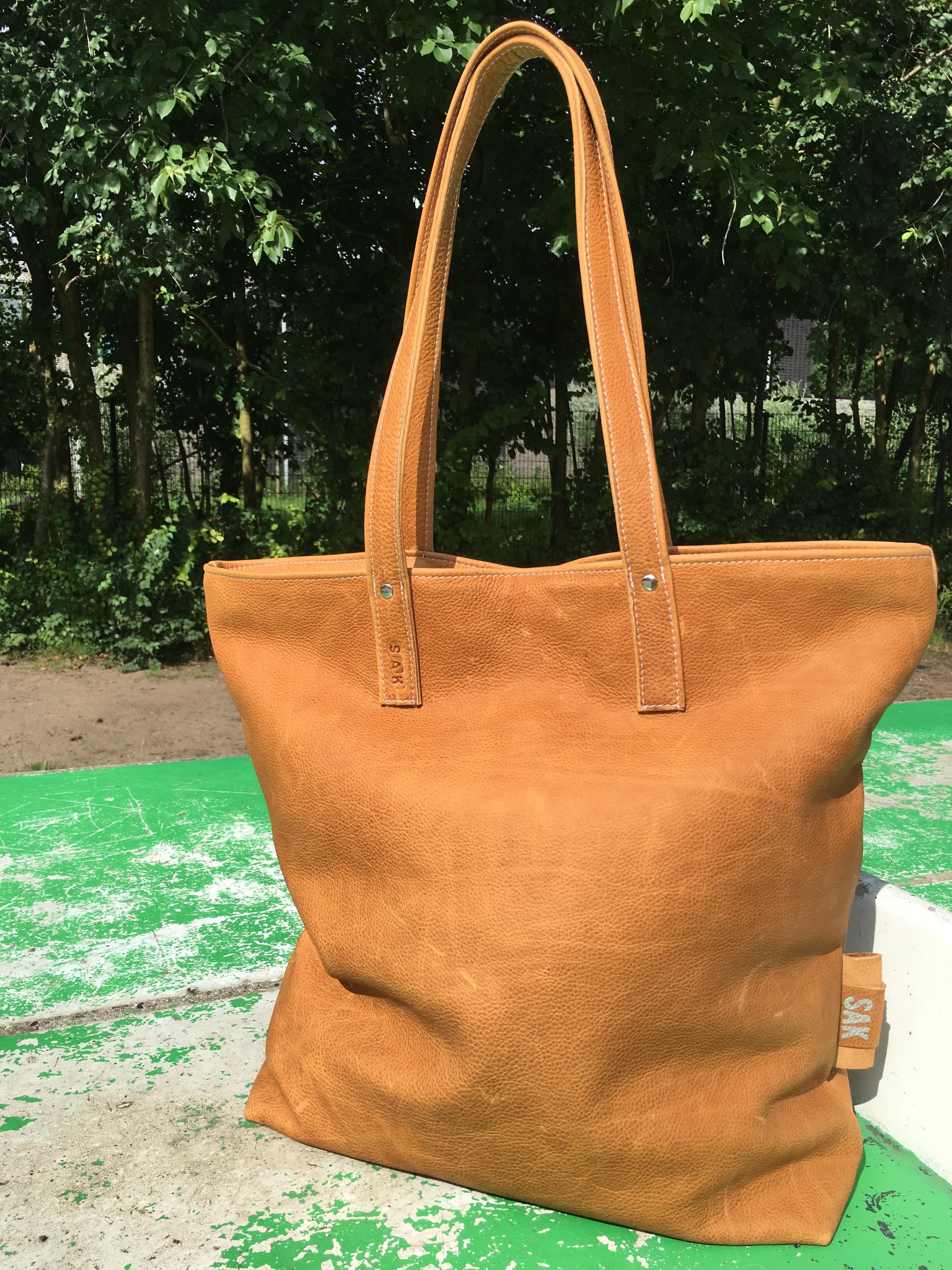 Lola xl big bag leer camel