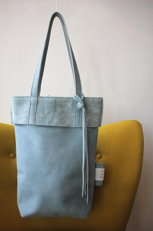 isis , small, blauw, suede, omslag, shopper, schoudertas, brons
