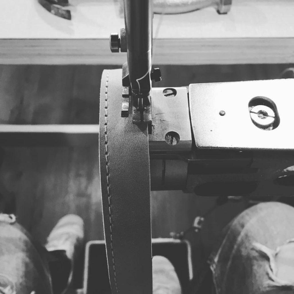 naaimachine, leer, handgemaakt , naaien, industrieel, sak